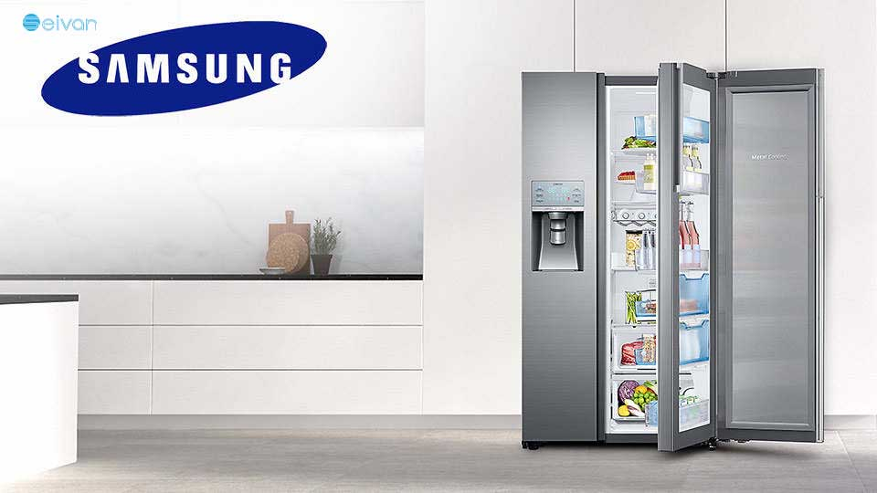 SAMSUNG SIDE BY SIDE REFRIGERATOR RH77سیوان شاپ بانه